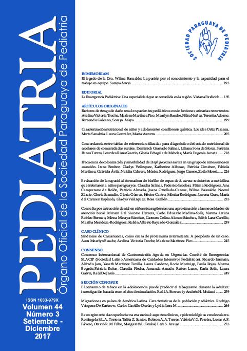 Tapa Revista Sociedad de Pediatría Vol 44, N° 3